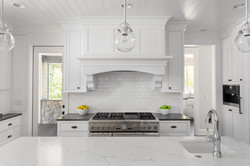 White Kitchen Interior Detail with Islan