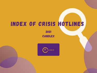 Crisis Hotlines   Be brave! Reach out for help!