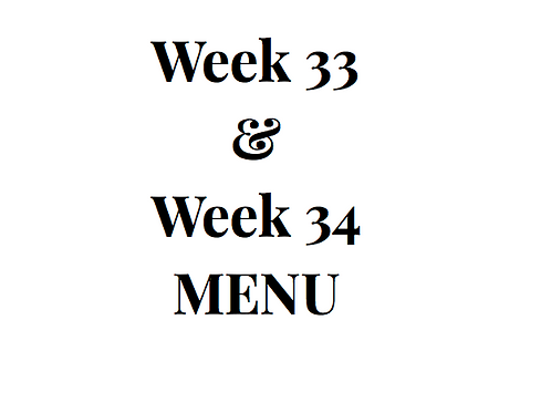 Week 33 and 34