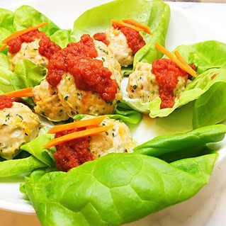 Sweet Potato Chicken Meatballs Lettuce Cups