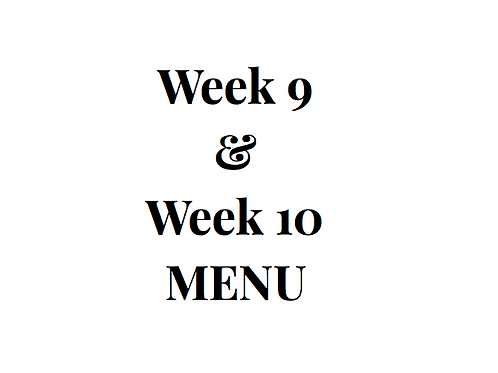 Week 9 and 10