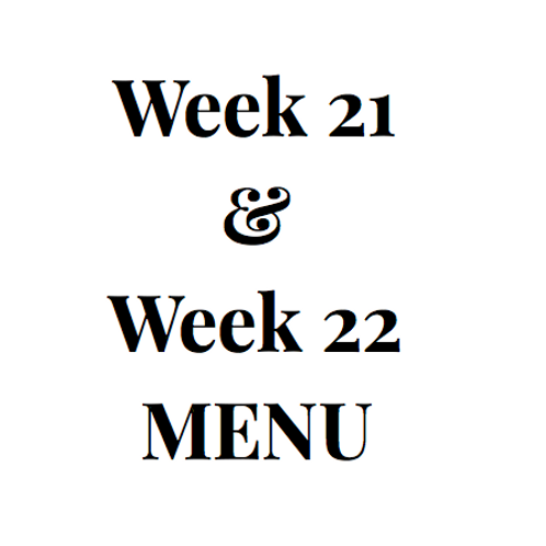 Week 21 and 22