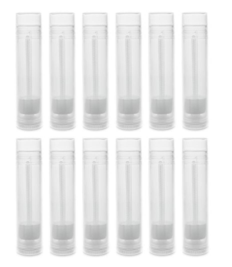 12 pack 5.5ml lip balm clear