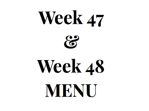 Week 47 and 48