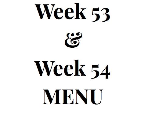 Week 53 and 54