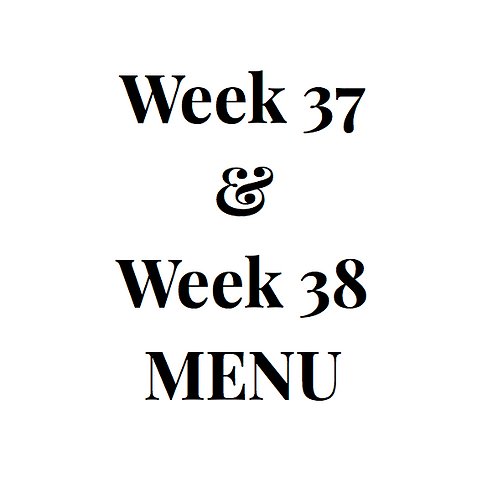 Week 37 and 38