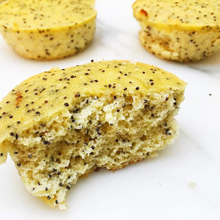 Lemon Poppy Seed Almond Muffins