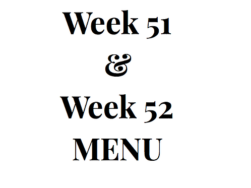 Week 51 and 52