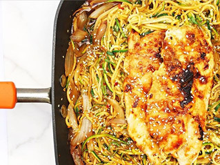 Zucchini Chicken Lo Mein