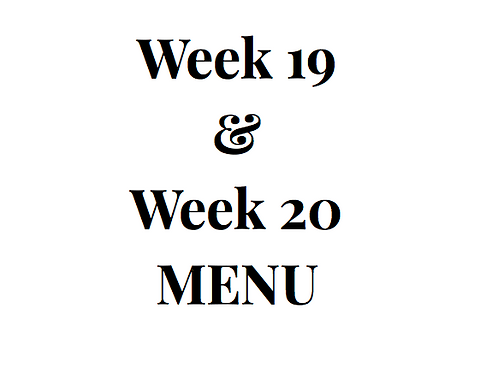 Week 19 and 20