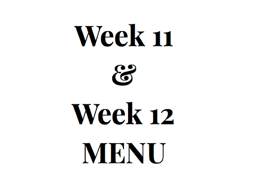 Week 11 and 12