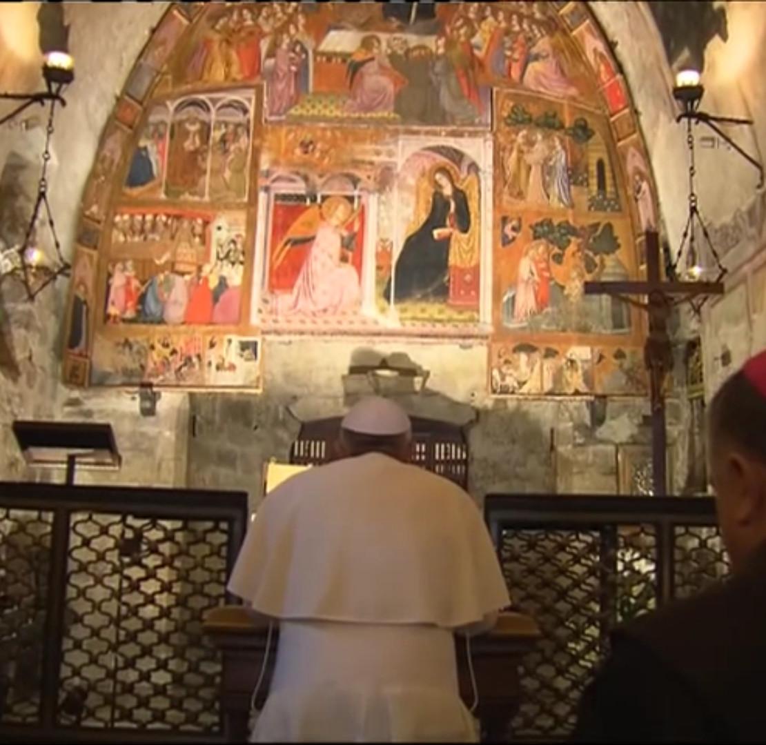 Papa-Francesco-ritorna-ad-Assisi-in-pellegrinaggio-alla-Porziuncola
