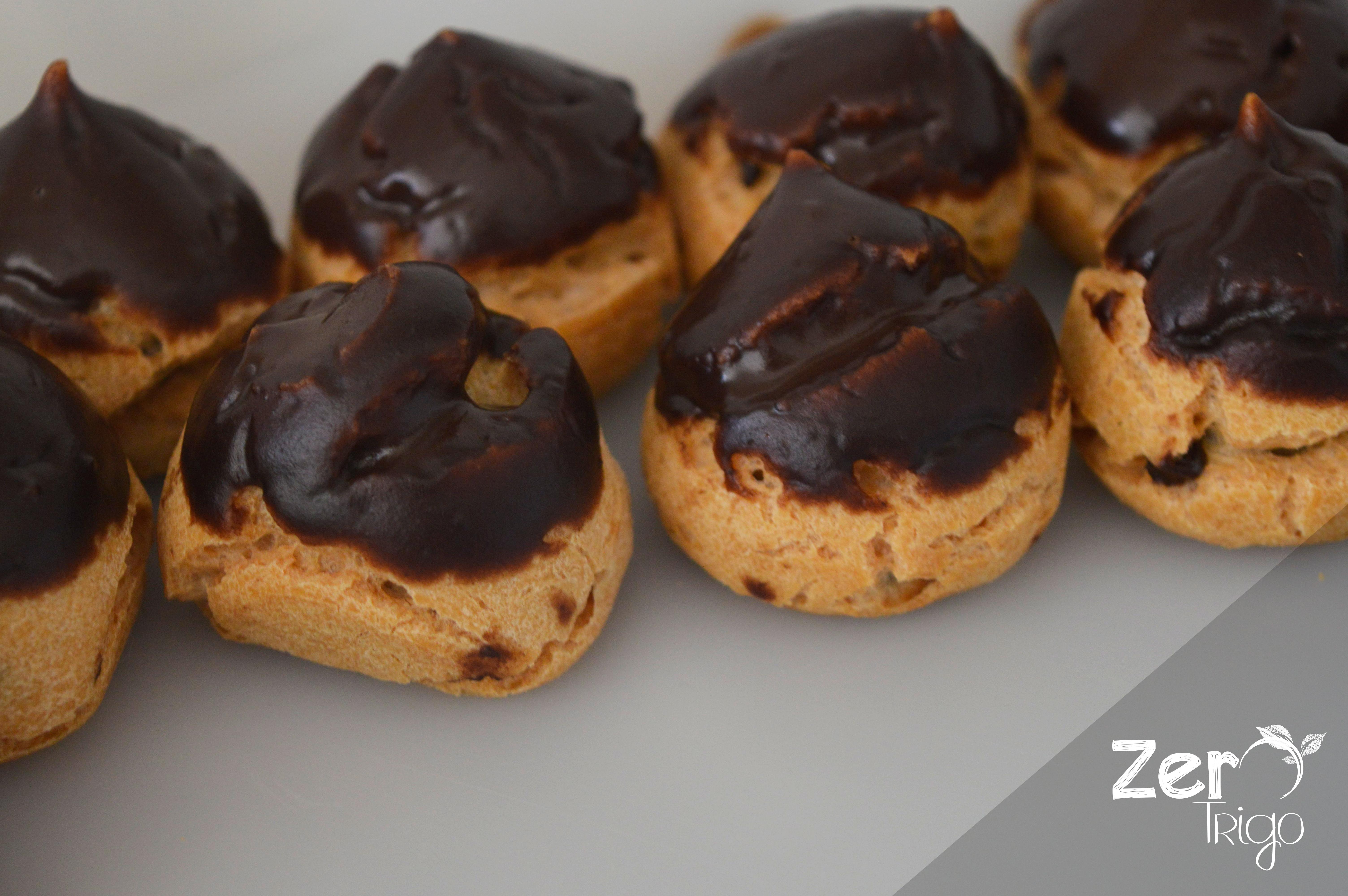 Profiteroles de Chocolate sem gluten
