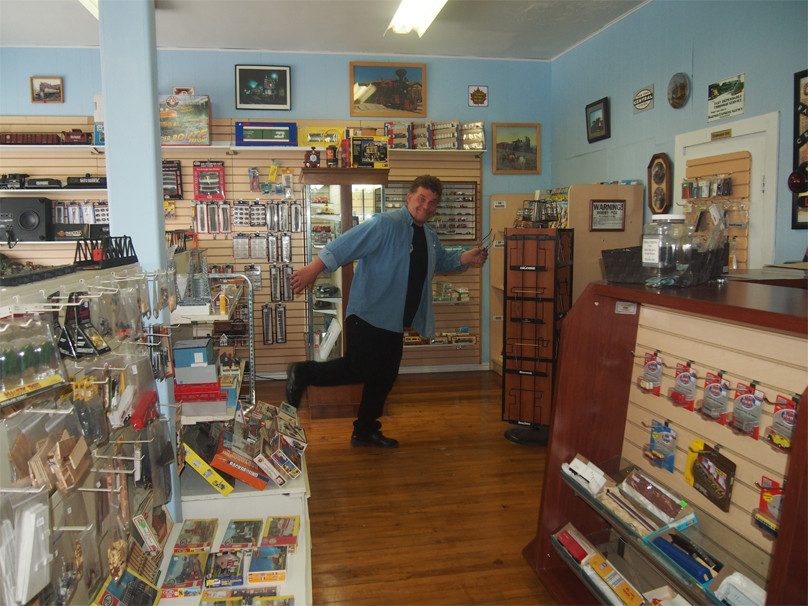 Store Owner Scotty Hamming it Up