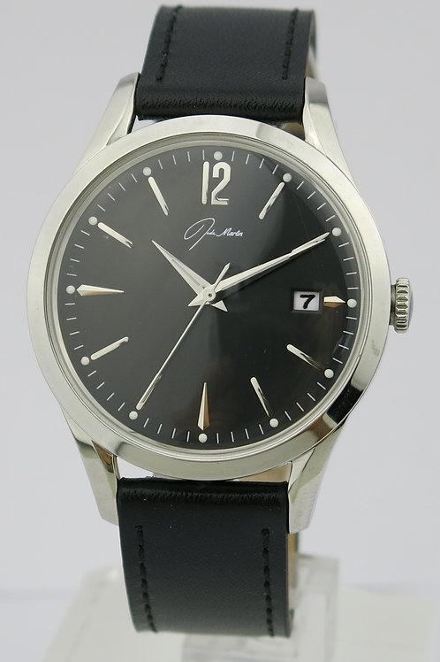 Jade Marlin Black with Silver Watch