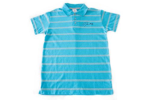 Jade Marlin Stripe Polo Shirt