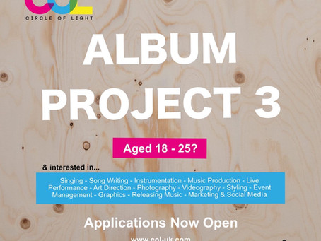 Circle of Light Youth Music Project - For young people by young people. Applications now open