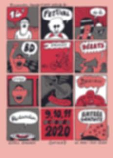 Affiche de Morvandiau festival BD engagée octobre 2020