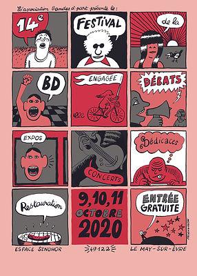 Affiche de Morvandiau festival BD engagée octobre 2021