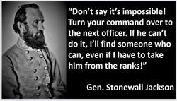 CSA Gen Stonewall Jackson