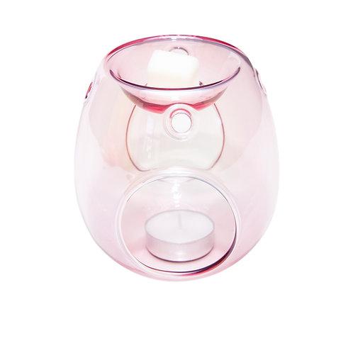 PINK GLASS WAX BURNER