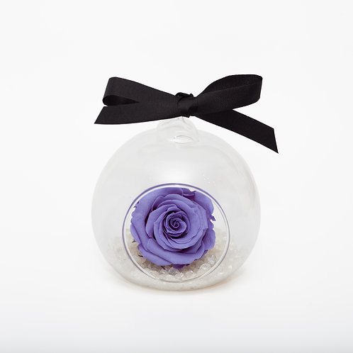 SMALL ROSE BAUBLE - LAVENDER