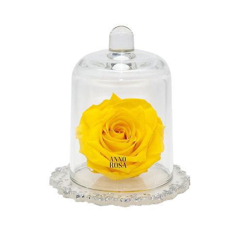 DELUXE YELLOW DIAMANTE RESIN BELLE SINGLE INFINITY ROSE
