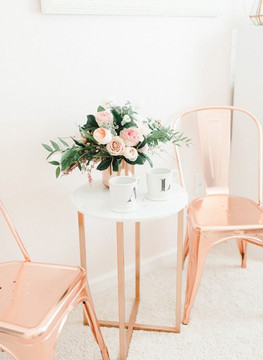 rose gold interior, rose gold, rose gold design, rose gold roses, interior design, rose gold interior, salon design, home decor, forever rose, eternity rose, forever roses
