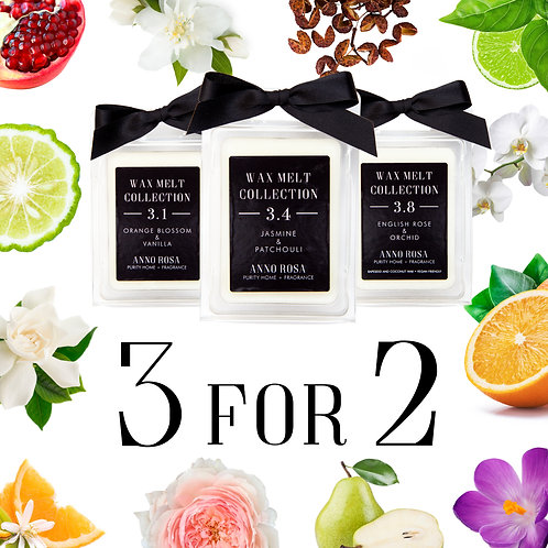 3 FOR 2 WAX MELT PACKS - MIX & MATCH (BURNER NOT INCLUDED)