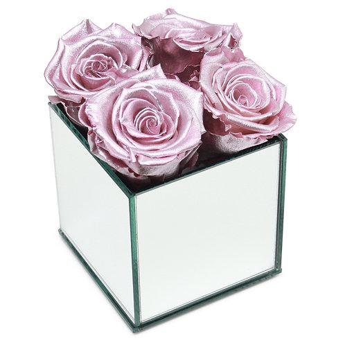 INFINITY ROSE BOX - METALLIC PINK
