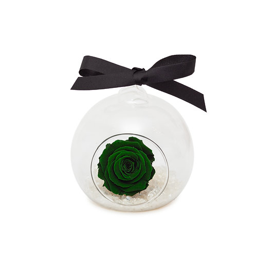 SMALL ROSE BAUBLE - GREEN
