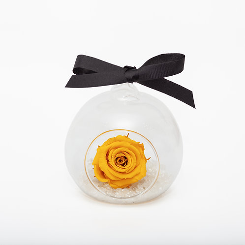 SMALL ROSE BAUBLE - YELLOW
