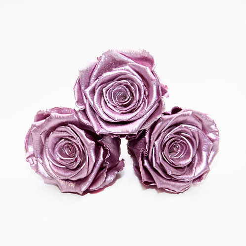 Infinity Roses that last a year - Metallic Pink