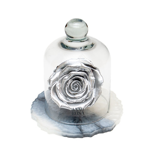 MARBLE BELLE SINGLE INFINITY ROSE - SILVER