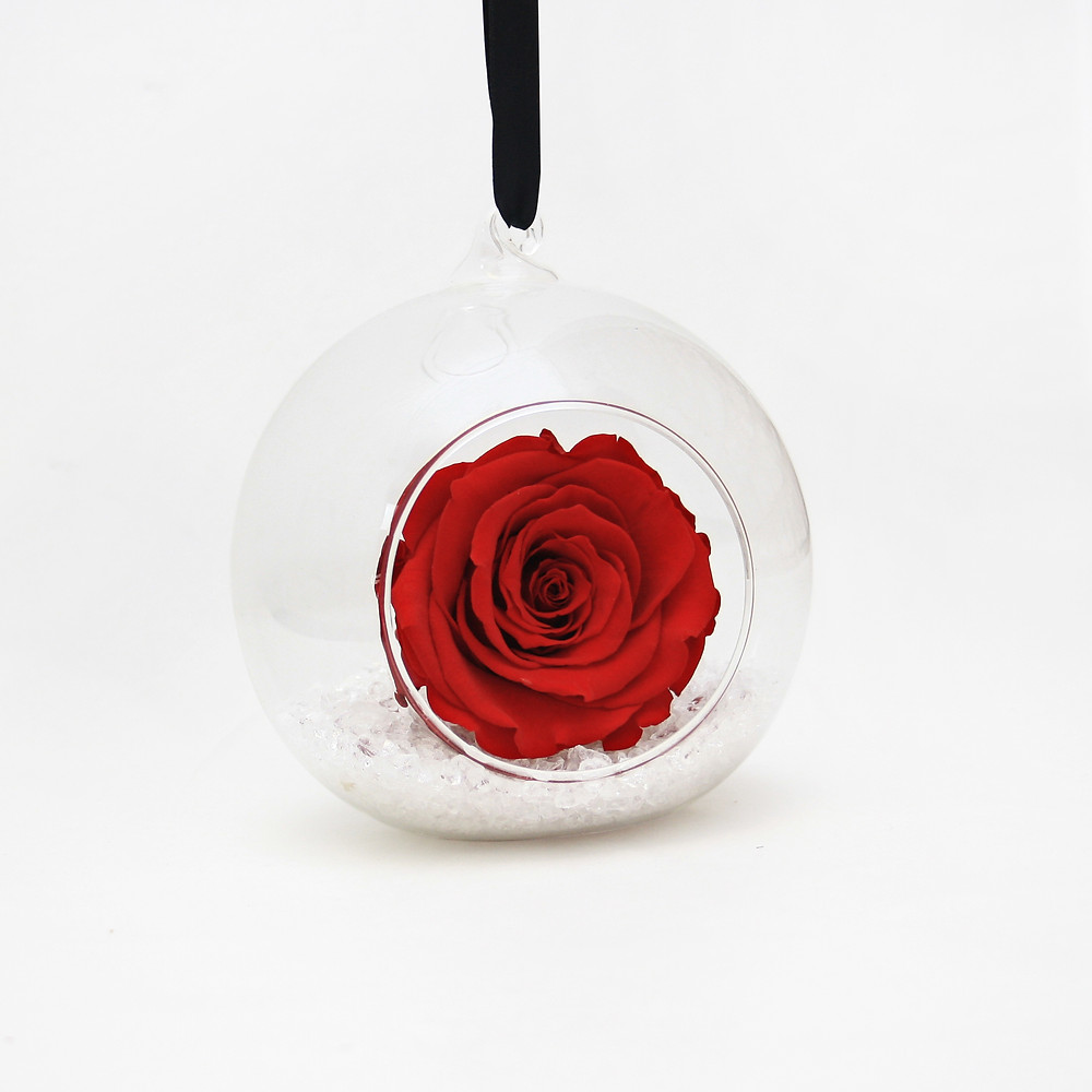 Eternity Rose Christmas Bauble