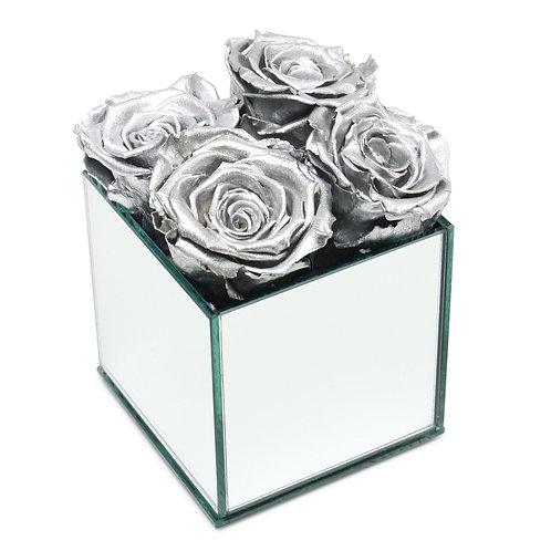 INFINITY ROSE BOX - METALLIC SILVER