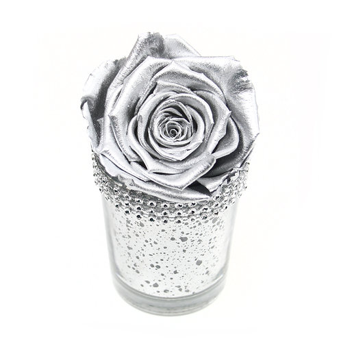 Silver Infinity Rose that lasts a year