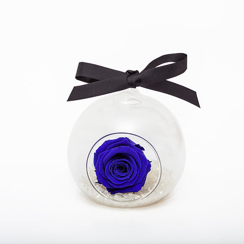SMALL ROSE BAUBLE - SAPPHIRE