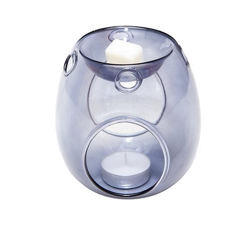 GREY GLASS WAX BURNER