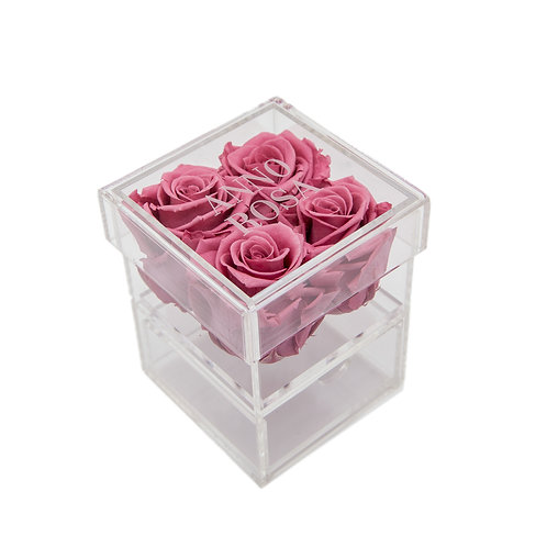 PINK CHERRY INFINITY ROSE KEEPSAKE BOX