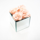 preserved rose eternity rose forever rose mirrored cube bedroom decor bedroom inspo peach roses forever rose roses that dont die gift ideas girly gift ideas valentines day ideas