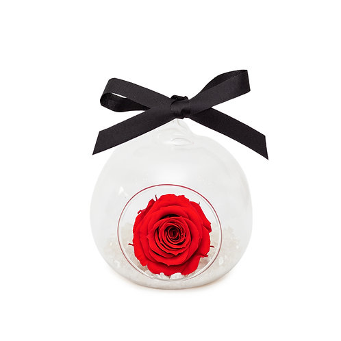 SMALL ROSE BAUBLE - RED