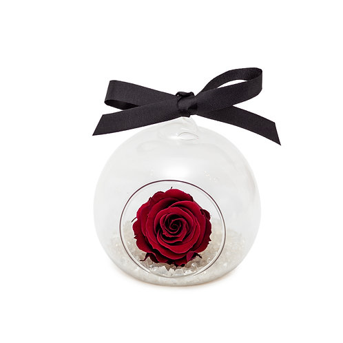 SMALL ROSE BAUBLE - WINE