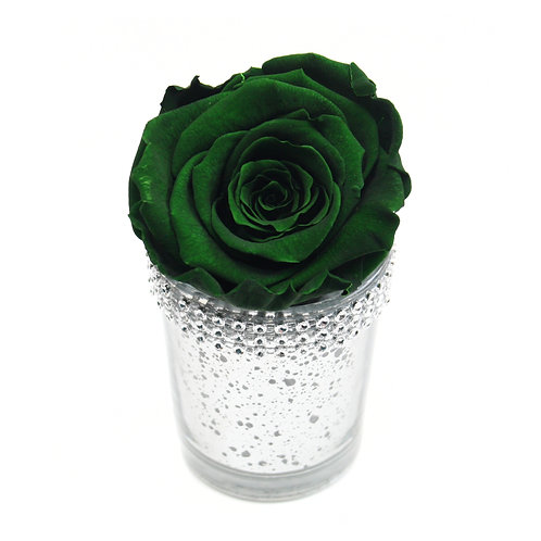 Dark Green Infinity Rose that lasts a year