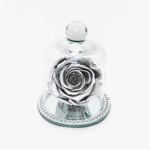 DIAMANTÉ BELLE SINGLE INFINITY ROSE - METALLIC SILVER