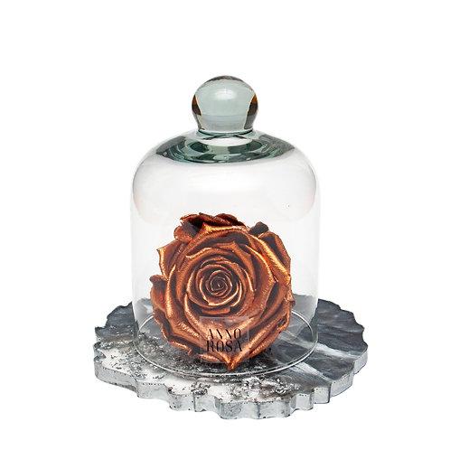 RESIN BELLE SINGLE INFINITY ROSE - ROSE GOLD