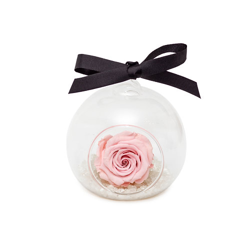 SMALL ROSE BAUBLE - PINK