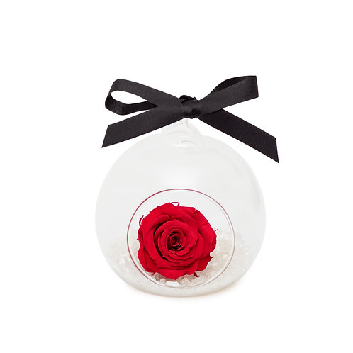 SMALL ROSE BAUBLE - CRANBERRY