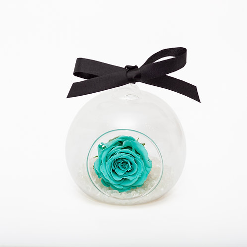 SMALL ROSE BAUBLE - AQUA
