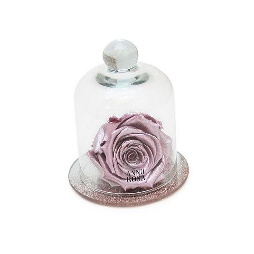 ROSE GOLD BELLE SINGLE INFINITY ROSE - METALLIC PINK